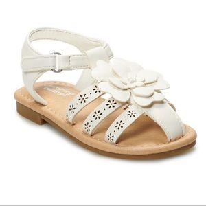 Jumping Beans White Flower Sandals